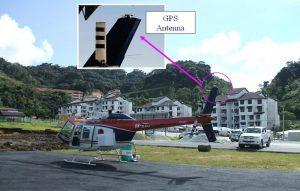 GPS mounted on Heli